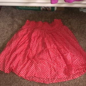 Old Navy XS Salmon and White Skirt